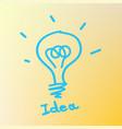 bulb light idea concept vector image