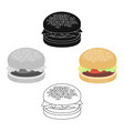 burger icon in cartoonblack style for web vector image