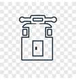 cable car cabin concept linear icon isolated on vector image