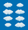 cartoon clouds set on blue sky background vector image