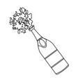 champagne bottle open vector image vector image