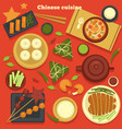 chinese cuisine seafood and dumplings green tea vector image vector image