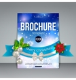 Christmas brochure template Abstract flyer design vector image vector image