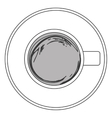 coffee cup topview icon vector image vector image