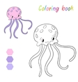 Coloring book jellyfish kids layout for game vector image vector image