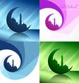 creative set of ramadan festival background vector image vector image