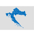 croatia map - high detailed blue map with vector image vector image