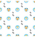 cute wild animals seamless pattern vector image vector image