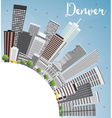 Denver Skyline with Gray Buildings vector image vector image