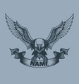 eagle with banner in claws tattoo style vector image vector image