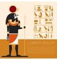 egypt ra banner1 vector image vector image