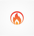fire round shaped vector image vector image