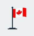 flag of canada flag stand vector image