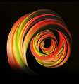 flow dynamic circle curved wave vector image vector image