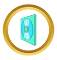 Game disk icon vector image