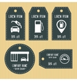 Gas station discount gift tags from chalky texture vector image vector image