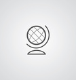 globe outline symbol dark on white background logo vector image