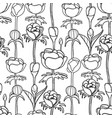graphic pattern of buds vector image vector image