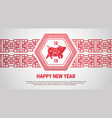 happy chinese new year 2019 paper cut lunar pig vector image vector image