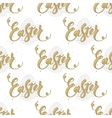 Happy Easter egg seamless background vector image
