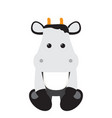 isolated stuffed cow toy vector image vector image