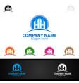 letter h for digital logo marketing financial vector image vector image