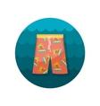 Men Beach Shorts flat icon vector image vector image