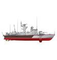 missile boat vector image
