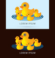 mother and child yellow duck vector image