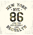 new york brooklyn - camouflage grunge t-shirt vector image vector image