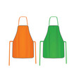 orange and green kitchen apron vector image vector image
