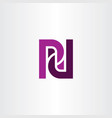 pd letter p and d purple logo icon vector image vector image