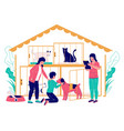 pet shelter concept flat style design vector image vector image
