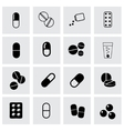 pillis icon set vector image