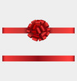 red ribbon with bow vector image vector image