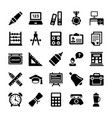 school and education icons 10 vector image vector image