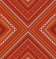 seamless red tribal embroidery pattern vector image vector image