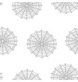 seamless spider web pattern isolated on white vector image