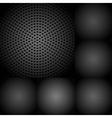 set dark metallic textures vector image