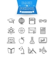 Set of back to school and education outline icons vector image