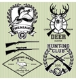 set of emblems with a deer hare pheasant for vector image