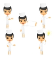 set of funny cartoon nurse vector image vector image