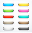 set rounded buttons vector image vector image
