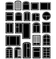 set window silhouette vector image
