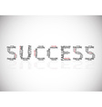 Success built on failures vector image