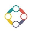 teamwork around symbol icon vector image