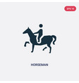 two color horseman icon from shapes concept vector image