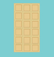 White chocolate bar vector image vector image