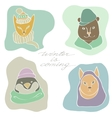 depicting portraits of animals vector image