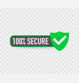100 secure grunge icon badge or button vector image vector image